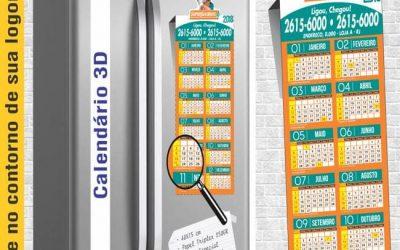 Calendários e folhinhas não pesam no orçamento – ímã de Geladeira