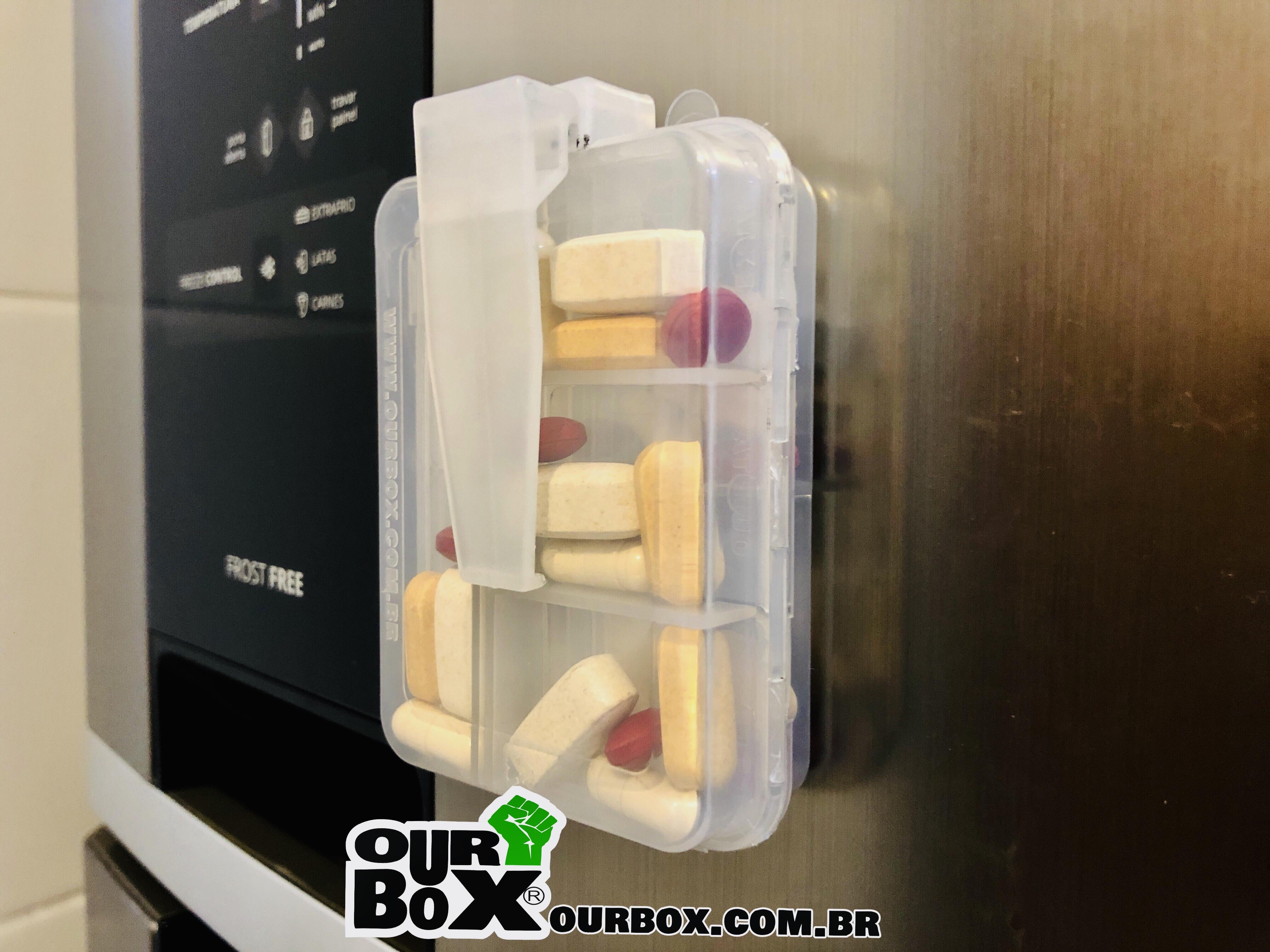 porta comprimidos ourbox semanal clip ima