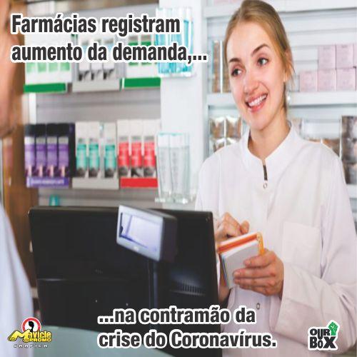 Farmácias registram aumento de demanda na contramão da crise do Coronavírus