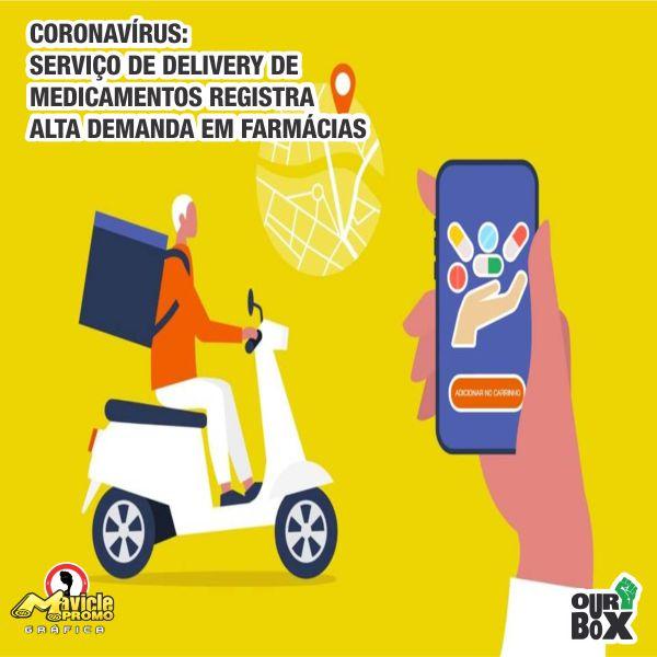 Coronavírus: Serviço de Delivery de Medicamentos registra alta demanda em farmácias